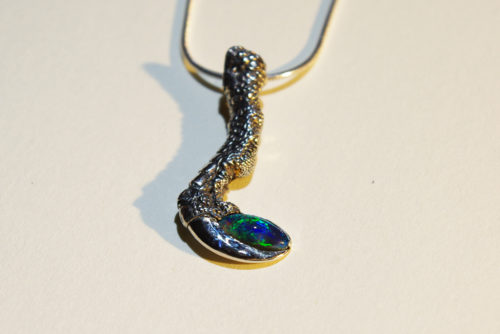 Kette Krallen Opal