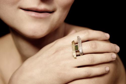 Ring Turmalin, Sepia
