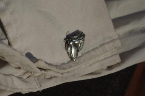 Manschettenknöpfe Silber Entenschnabelmuschel