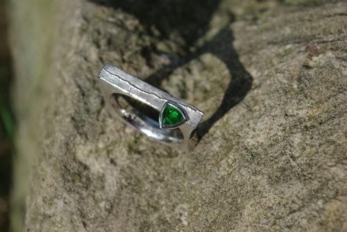 Silberguss Ring Turmalin