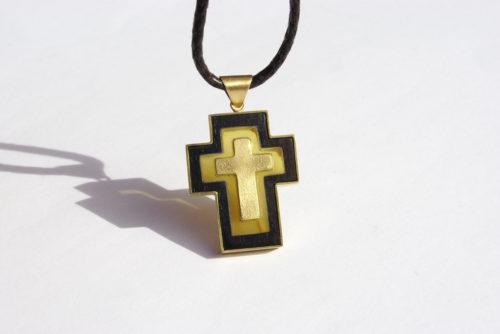Kreuz Anhänger Ebenholz