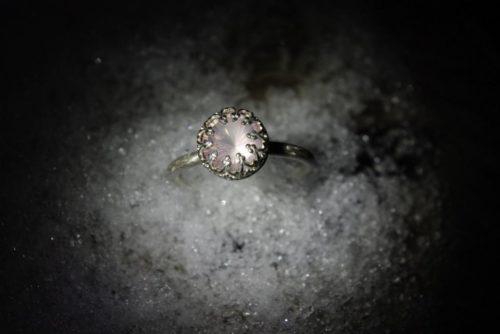 Ring Rosenquarz, Silber