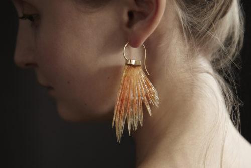 Fischflossen Ohrhänger