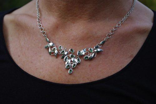 Turmalin Collier, Silber